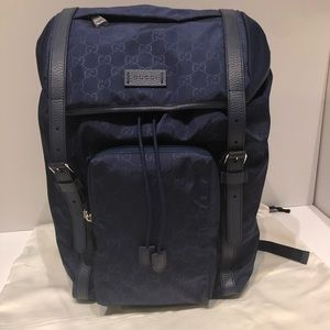 Authentic Gucci Large Navy Blue Backpack